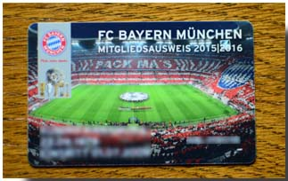 Bayern Munchen Members Card