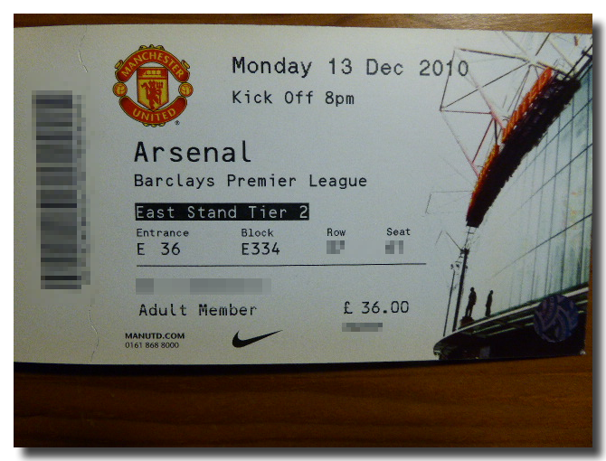 Manchester United-ticket