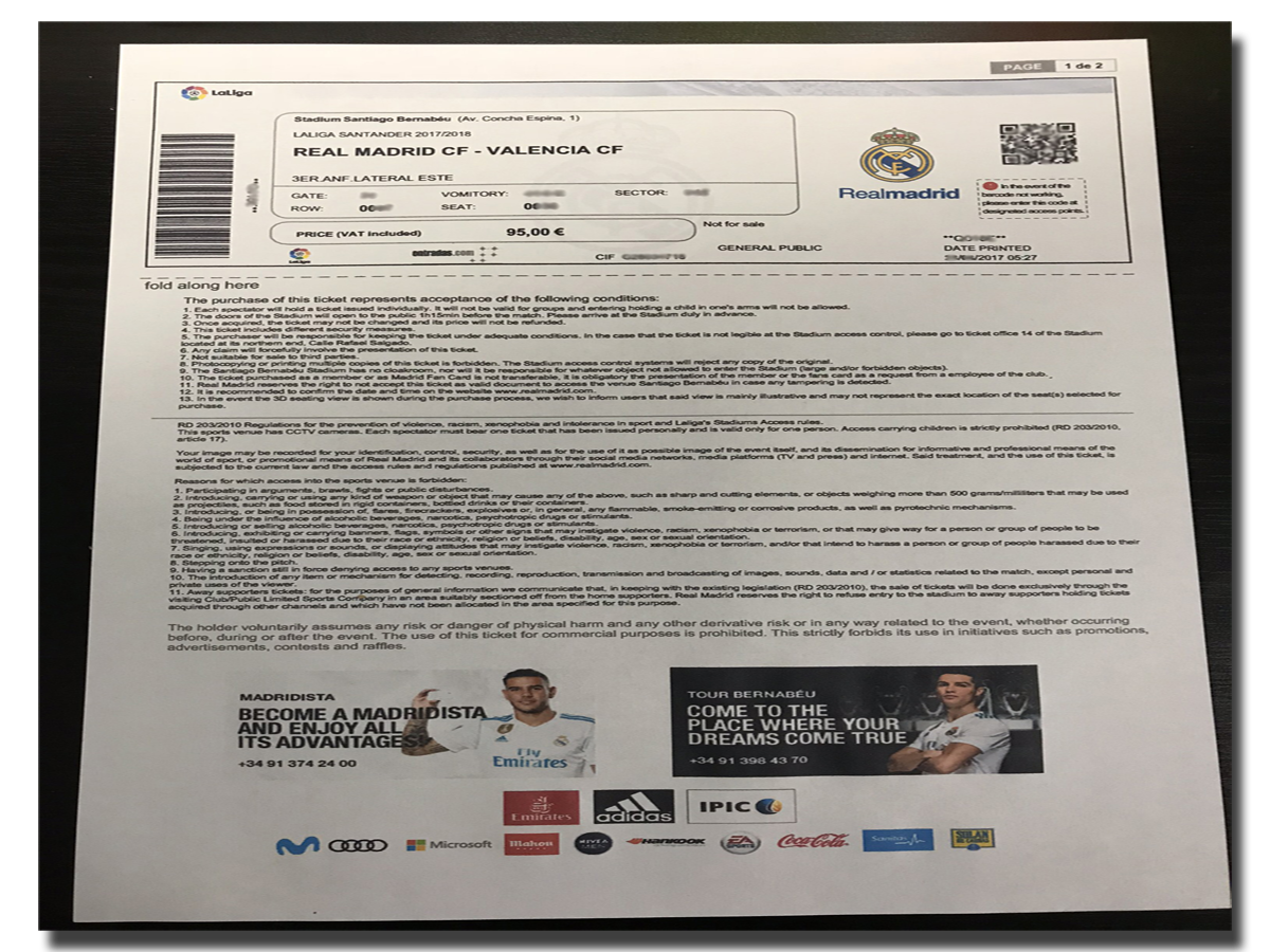Real-Madrid-ticket
